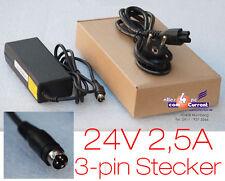 24V 2,5A NETZTEIL 3-PIN STECKER KASSENDRUCKER EPSON PS-170 PS-180 TM-T88II III K
