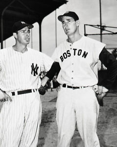 Boston-Red-Sox-TED-WILLIAMS-amp-New-York-Yankees-JOE-DIMAGGIO-8x10-Photo-Print