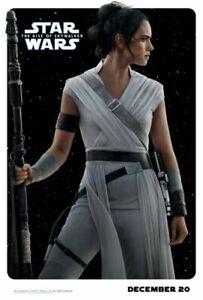 Star Wars The Rise Of Skywalker Poster Rey Daisy Ridley Movie 2019 Wallpaper Ebay