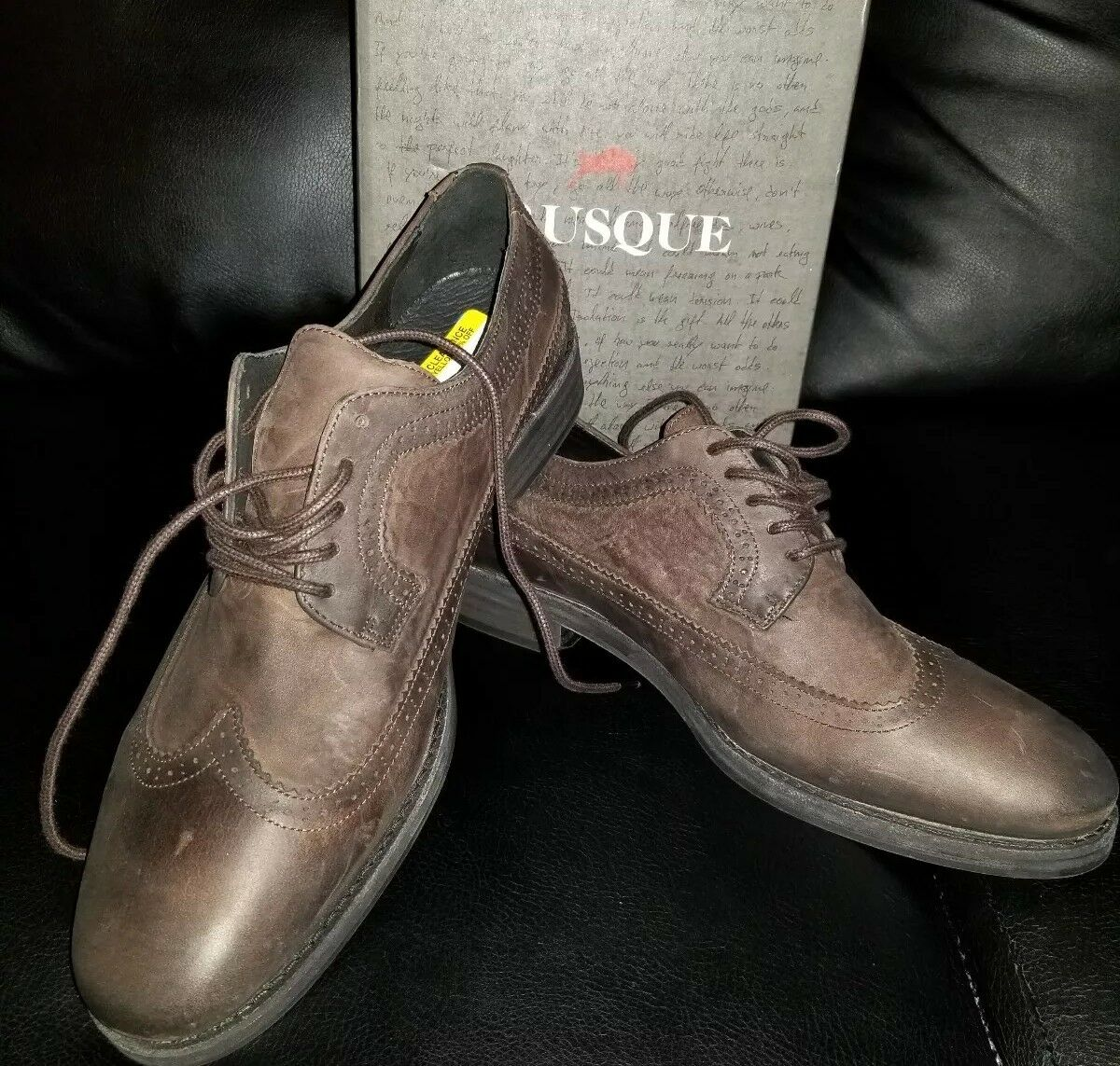 NEW Oxford Mens  Brusque Wingtip Oxford NEW Brown. a9033d