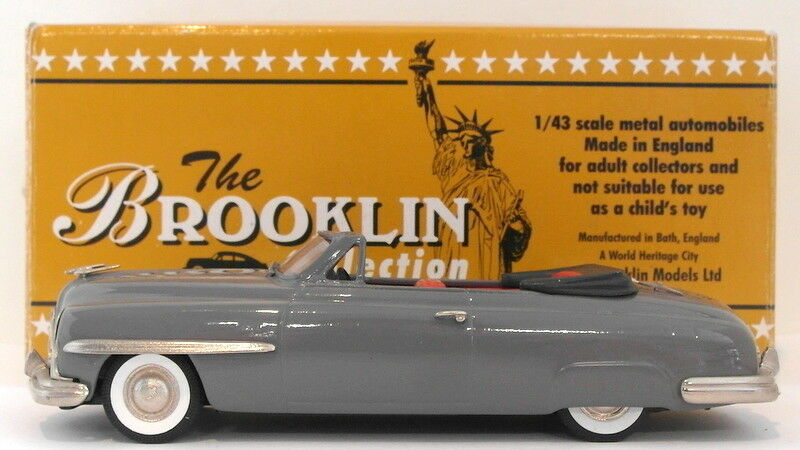 Brooklin modelle, maßstab 1  43 brk94 - 1949 lincoln kosmopolitischen cabrio - grau