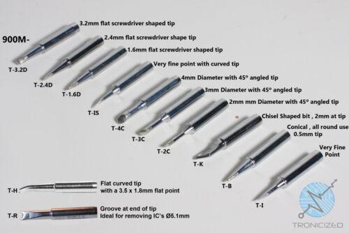 900M Soldering Iron Tip for MAPLIN A55KJ HAKKO TENMA  ATTEN  900M-T