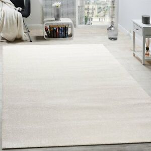 Image Is Loading Cream Rug Plain Woven Living Room Bedroom Carpet