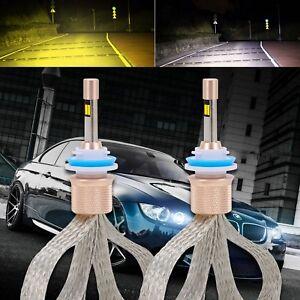 Dual-Color-H8-H9-H11-80W-11000LM-LED-Headlight-Kit-Bulb-Replace-Halogen-Xenon-AU