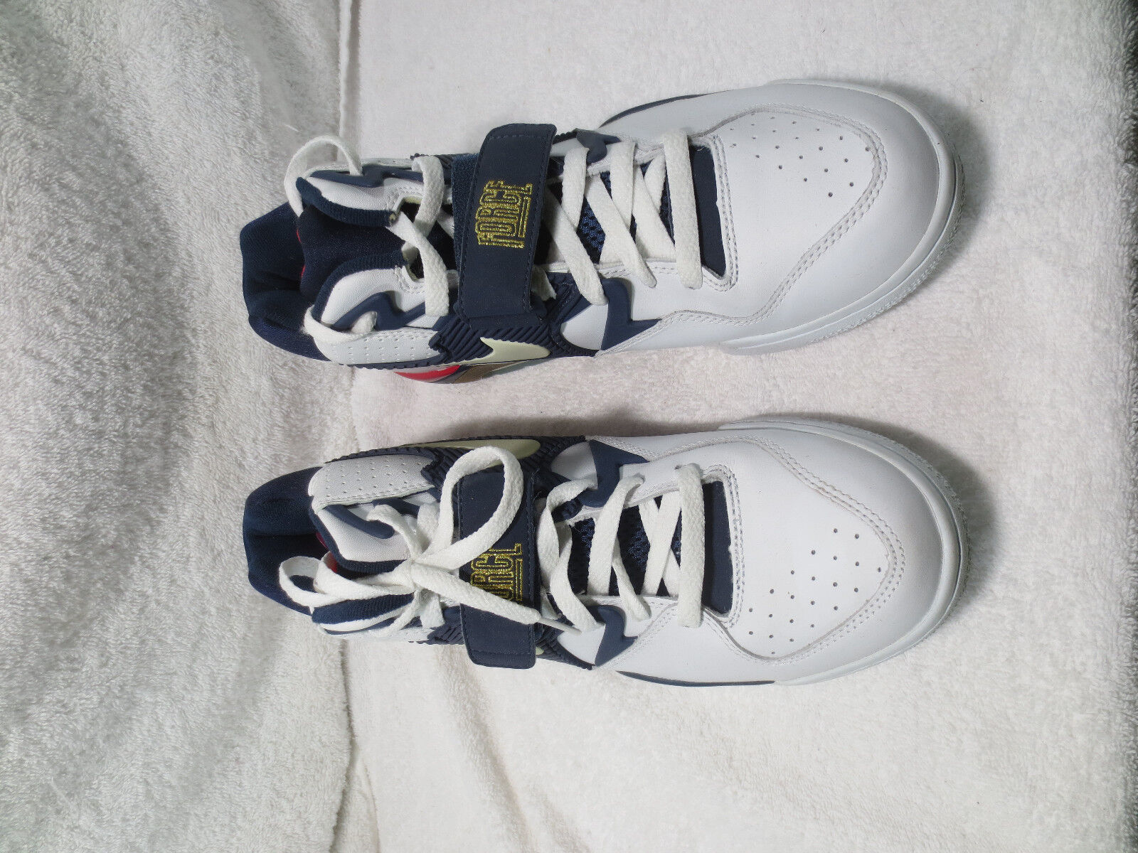 f3cc118f6555ff Nike Nike Nike Air Force 180 310095 141 SIZE 8.5 White Midnight Navy ...