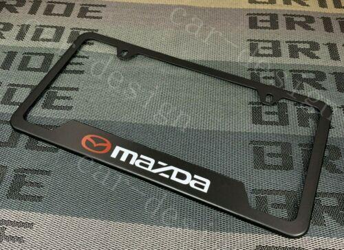 x1 Mazda Black License Plate Frame Stainless Steel Metal New