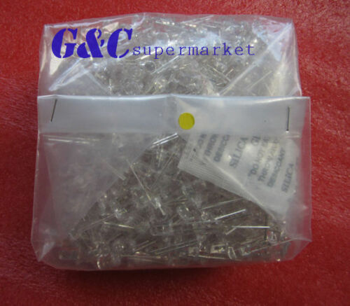 1000pcs F5 5mm YELLOW  Round Superbright LED Light LED lamp GOOD QUALITY
