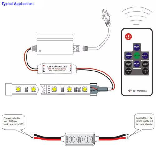 Single Color LED Dimmer Controller 11keys Mini RF Wireless Remote For led strip
