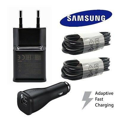 Black Original Samsung Galaxy S8 S8 Plus Type-C Cable Fast Car / Wall Charger