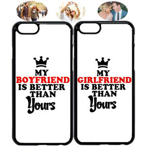 quality design 2757d b2f7e Details about My BF GF Is Better Couple Phone Case Cover for iPhone X XS  Max 6 7 8 S8 S9 S10 +