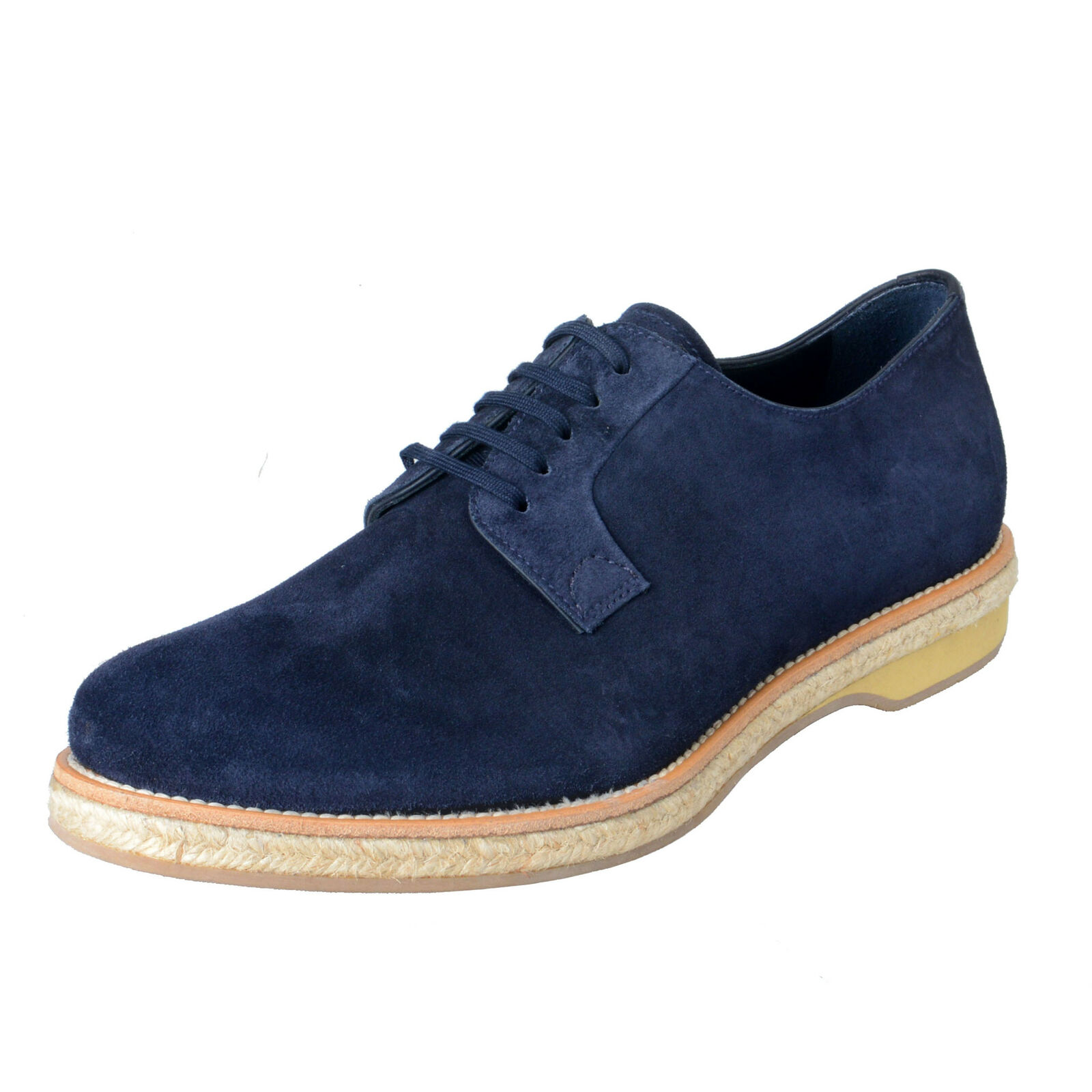 Prada Men's blu Suede Lace Up Oxfords scarpe sz 8 8.5 10 10.5 11 12 13