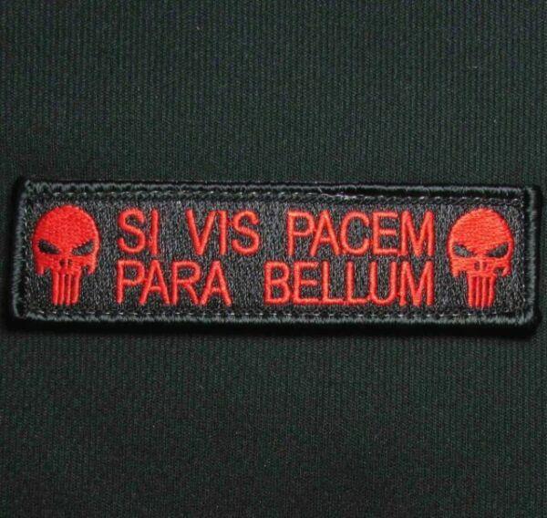Para Bellum Punisher Tan Brod/é Patch Airsoft Si Vis Pacem