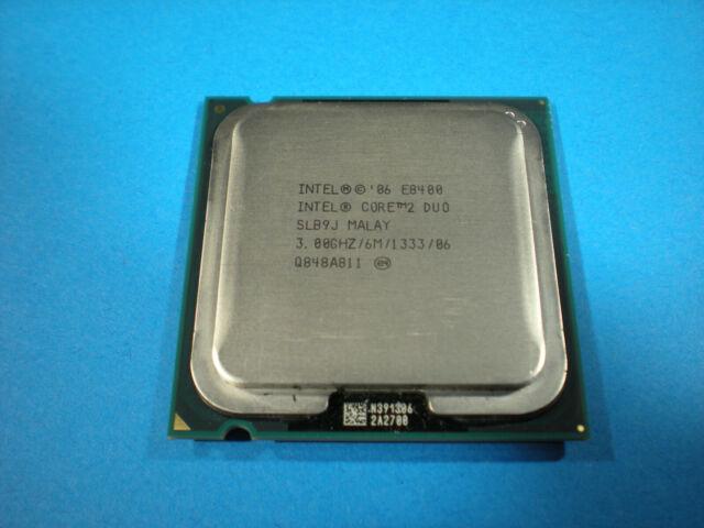 Intel ~ Core-2-Duo E8400 3.0GHz 6MB L2 Cache 1333MHz FSB LGA 775 CPU, SLB9J
