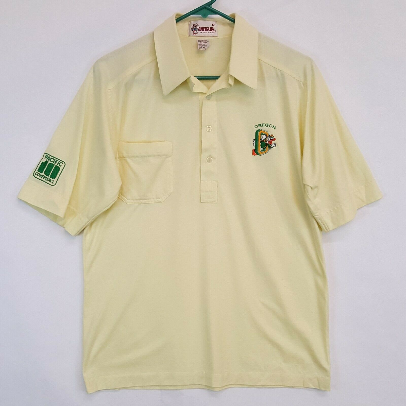 VTG 80s UO Oregon Ducks Antigua Pac 10 Polo Shirt… - image 1