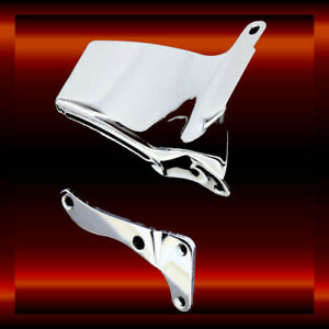 1969-1986 Small Block Chevy Long WP Chrome Steel Lower Alternator Bracket SBC