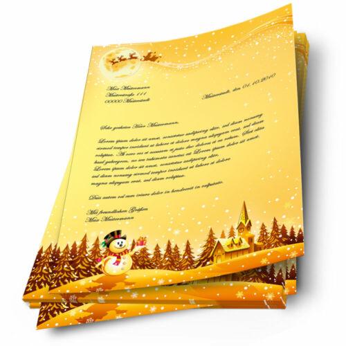 Motiv-Briefpapier FESTLICHE WÜNSCHE DIN A4 Format 100 Blatt