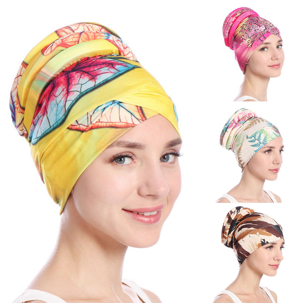 JQ_ BU_ Women Islamic Muslim Hijab Turban Hat Headwrap Scarf