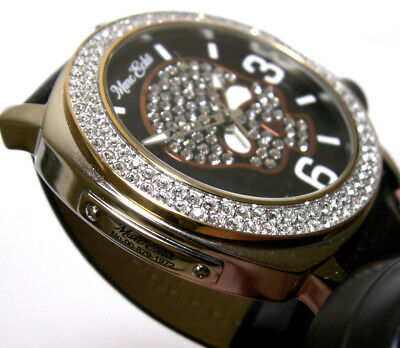 Marc Ecko Skull Super Bling Swarovski Crystal Dial/Bezel Original Case & Manual