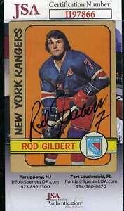 Rod Gilbert JSA Coa Autograph 1972 Topps Hand Signed