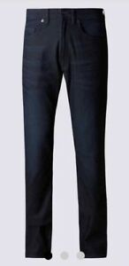 Nuevo-Para-Hombre-ajustada-de-la-pierna-Jeans-44-034-Cintura-31-034-longitud-Marks-amp-Spencer-tinte