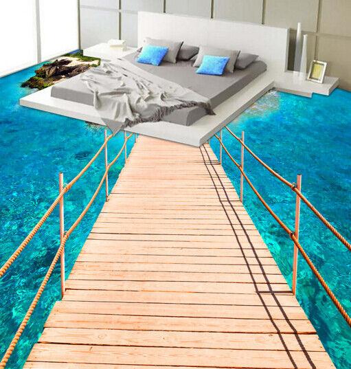 3D Island Bridge 643 Floor WallPaper Murals Wall Print 5D AJ WALLPAPER UK Lemon