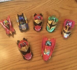 Power Rangers Lot Of 7 Mini Vehicles & Rangers