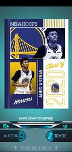 NBA Panini Dunk Digital Card 2020 James Wiseman