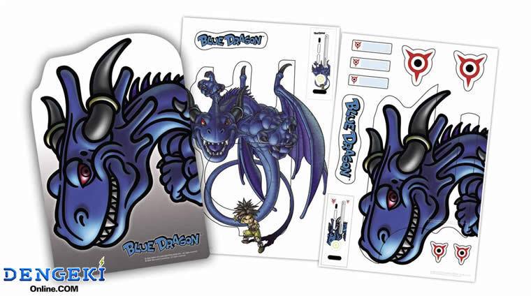 RARE XBOX360 Blue Dragon Bonus Mouse Pad & Sticker Skin Set Akira Toriyama JAPAN