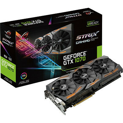 ASUS ROG Strix GeForce GTX 1070 Gaming Grafikkarte  (Nvidia, 8GB, GDDR5, PCIe)