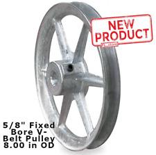 58 Inch Fixed Bore Standard V Belt Pulley 1 Groove Spoked 8 Inch Od Zamak 3 New