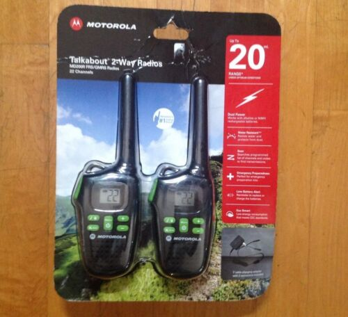 Way Radio Walkie Talkie Ni-MH 22 Channels 20 Miles 2 Motorola MD200R FRS GMRS 2