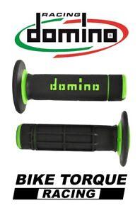 Domino Diamond Waffle Grips Black Red Honda CR500