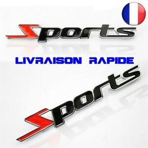 Sport-Version-Autocollant-Voiture-Auto-Embleme-3D-Chrome-metal-Badge-Sticker