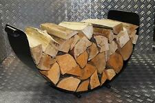 Kaminholzschale Kaminholzständer Holzwiege Kaminholzkorb Holz Pulverbeschichtet
