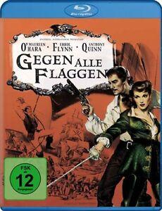 Contro-tutti-bandiere-Blu-ray-Nuovo-Scatola-Originale-pirati-film-con-Errol-Flynn-Maureen-O-039-har