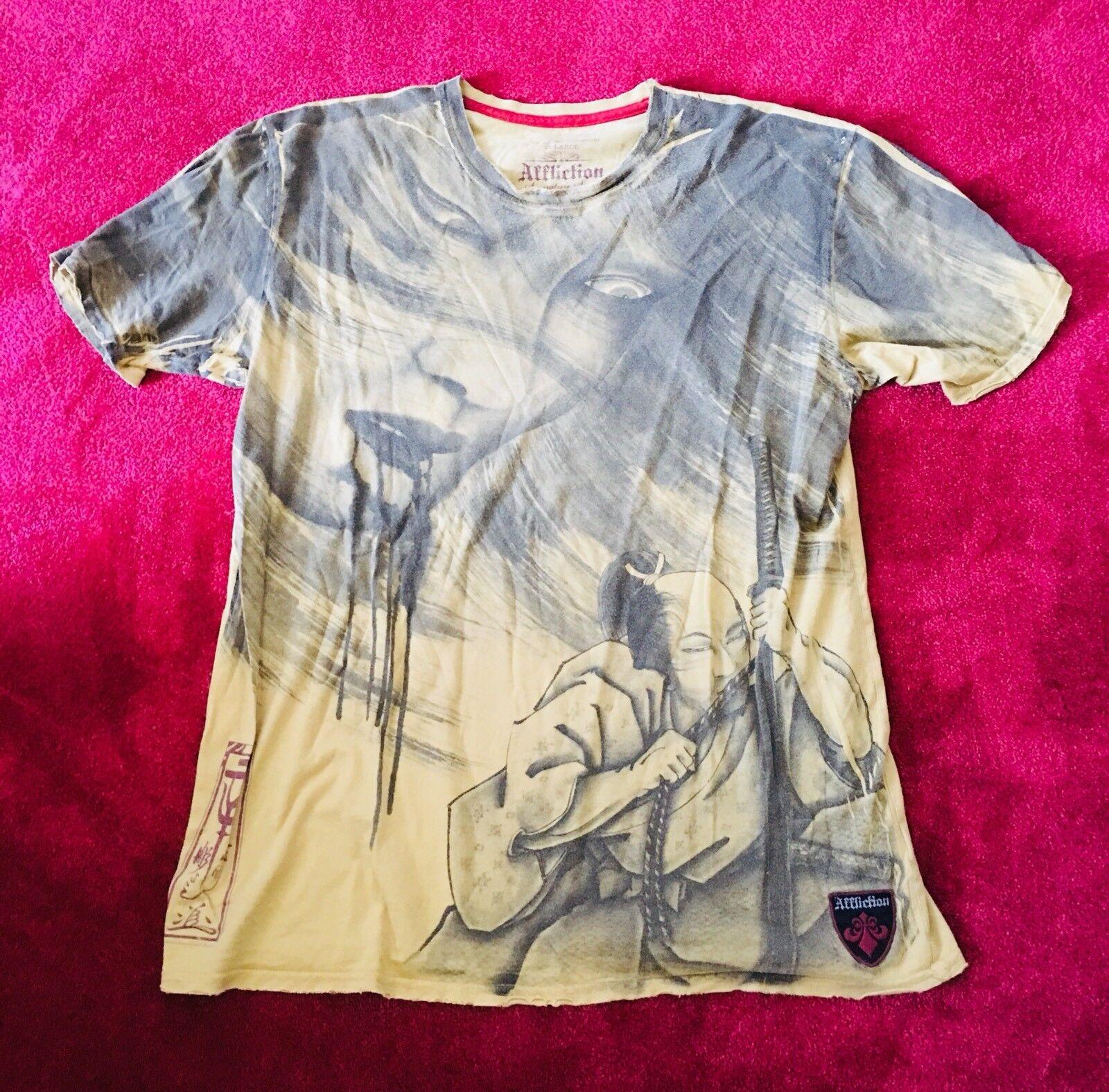 TOP Affliction T Shirt, XXL, Limited Edition, Horiyoshi III, Yokohama, NP