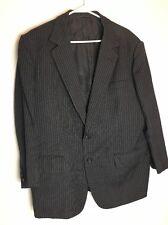 Gieves Hawkes Mens Suit 46R Black Pinstripe Measurements in Description