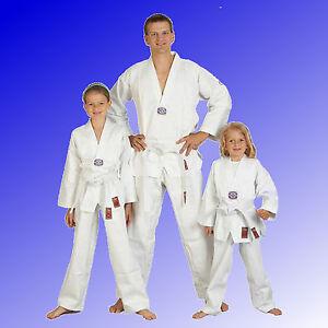 Taekwondoanzug-Taekwondo-Anzug-to-start-Kinder-weiss-Ju-Sports-Gr-90-200