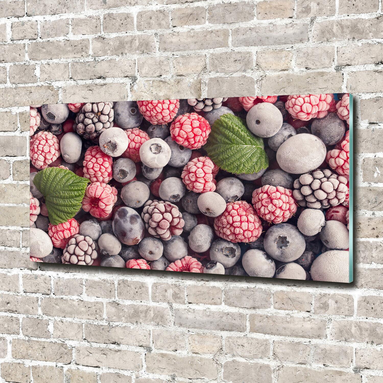 Acrylglas-Bild Wandbilder Druck 140x70 Essen & Getränke Waldfrüchte Gefroren