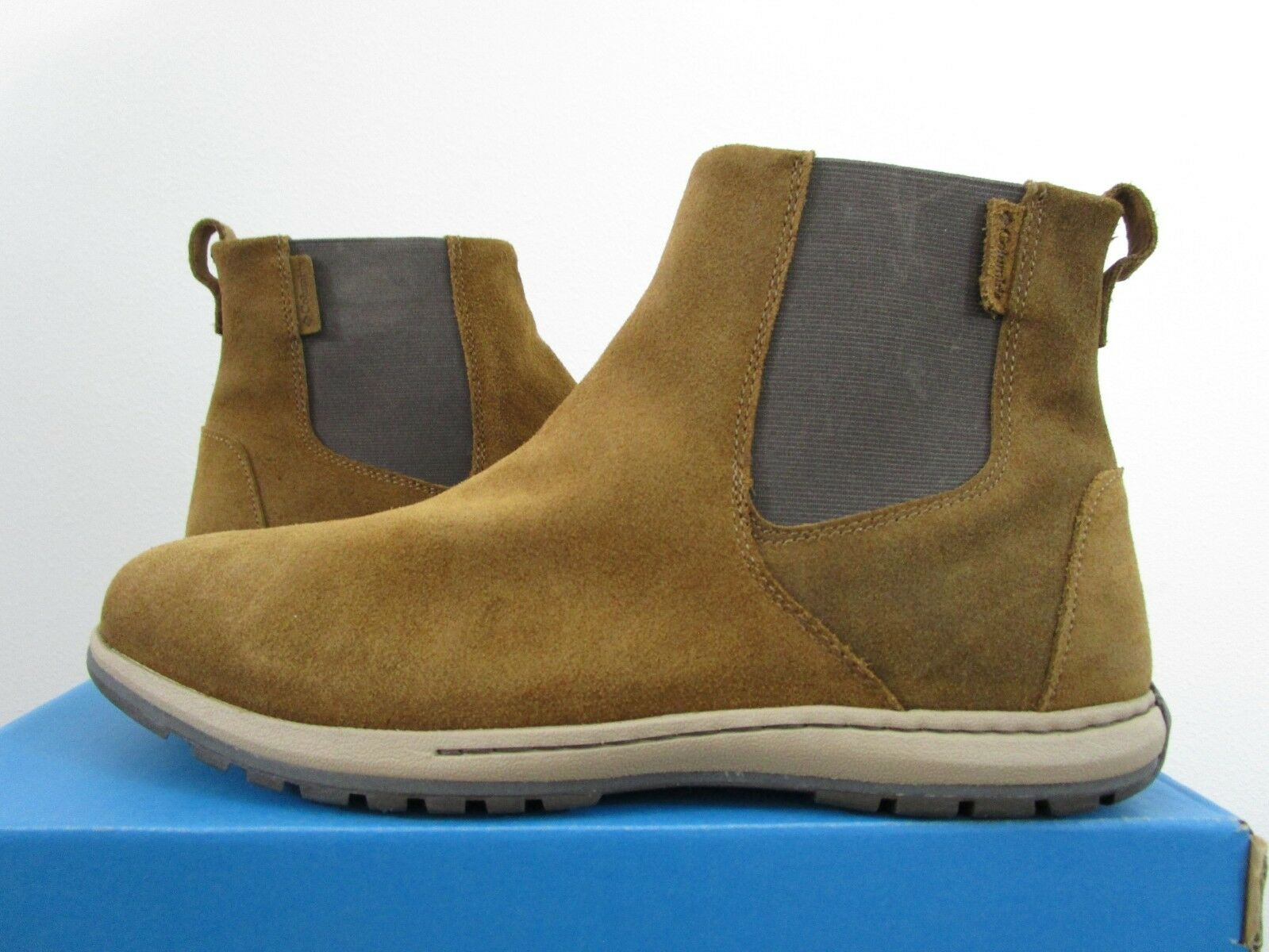 Mens Columbia Three Passes Gore EXS Casual Leather Chelsea Pull On Stiefel Bronze