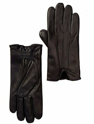 NORDSTROM BLACK PERFORATED LEATHER SIZE EXTRA LARGE GLOVES BRAND NEW NWT