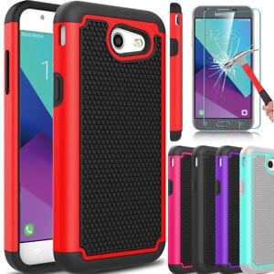 info for 26161 b4b60 For Samsung Galaxy J3 Emerge/Prime/Luna Pro Hybrid Case + Glass ...
