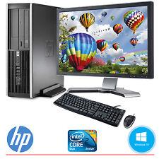 """HP Desktop Computer PC Core 2 Duo 4GB 250GB HD Windows 10 w/19"""" LCD Monitor WIFI"""
