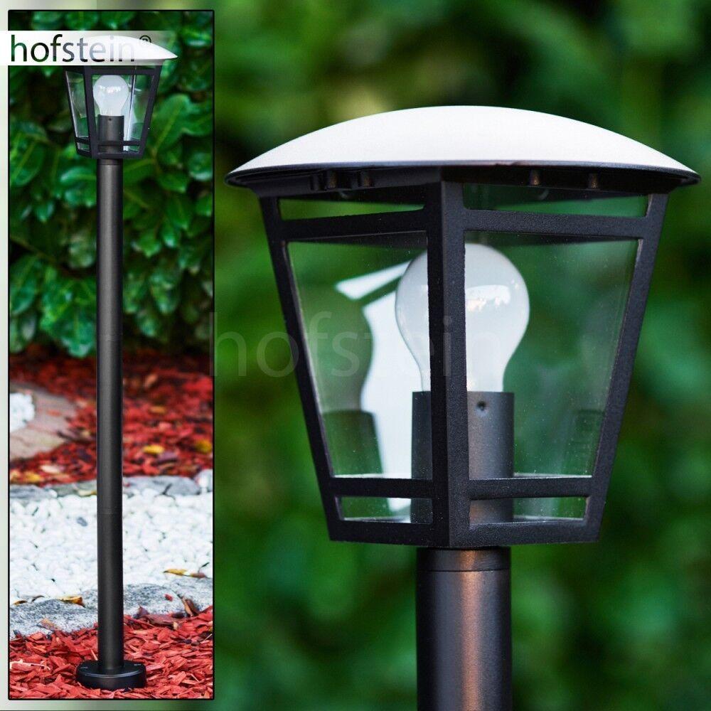 Klassische Aussen Steh Leuchten Garten Beleuchtung Wege Poller Lampen schwarz