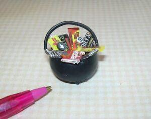 image is loading miniature adinolfi candy cauldron for halloween dollhouse miniatures