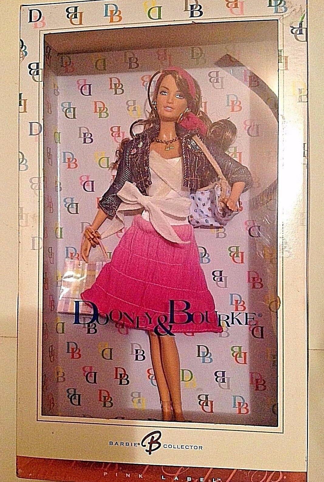 Nueva Muñeca Barbie Dooney & Bourke 2006 Duns Bolso rosado Etiqueta Ltd Edition retirado