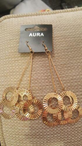Aura Diseño Pendientes De Oro