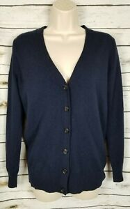 J-Crew-Navy-Blue-Sweater-Cardigan-Wool-Cashmere-Blend-XS-Womens
