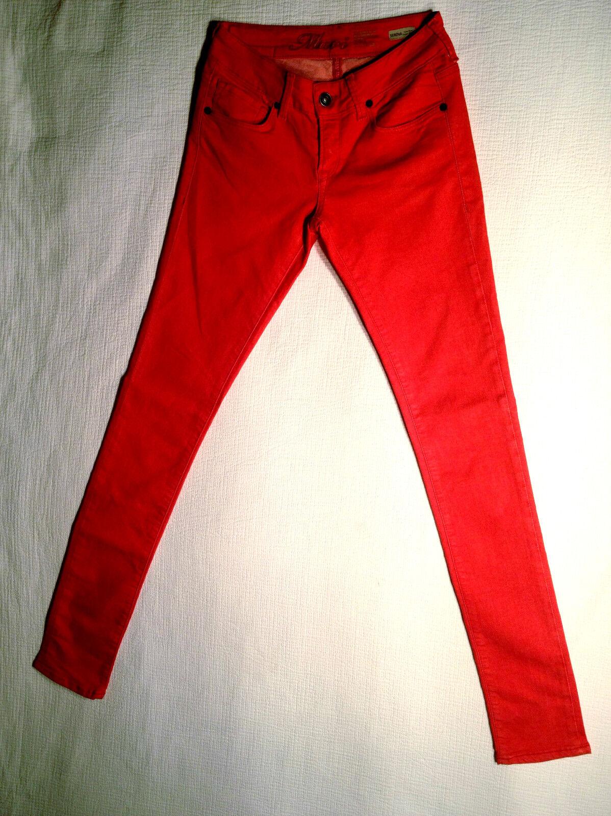 MAVI Jeans Stretch 'SERENA' Low Rise Skinny Red W26 L34 AU8 EUC LOOK NEW Womens