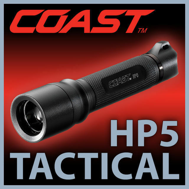 COAST H P5 Tactical High Performance Police EMS, 121 Lumen LED Torch